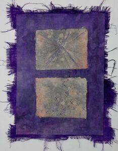 Grace Bakst Wapner, 'Purple with X Squares', 2019