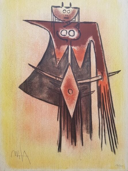 "Wifredo Lam, 'Demoiselle Blasonnée - From the suite ""Pleni Luna""', 1974"