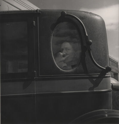 """Dorothea Lange, '""""Funeral Cortege: End of an Era in a Small Valley town, California""""', 1938"""