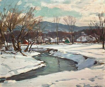 Carl Peters, 'Winter Valley with Stream', ca. 1960