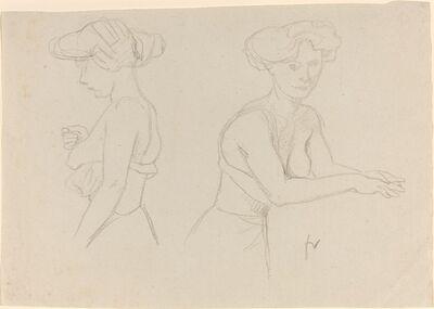 Félix Vallotton, 'Two Studies of a Woman Dressing', 1890s