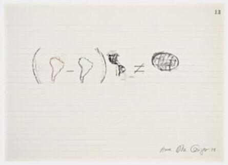 Anna Bella Geiger, 'Equations No 13', 1978