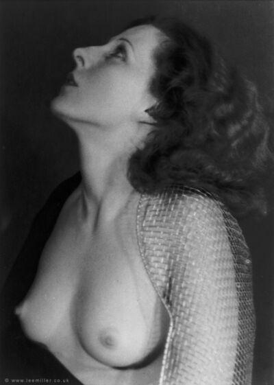 Lee Miller, 'Nude wearing sabre guard', ca. 1930