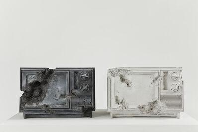 Daniel Arsham, 'Ash and Rose Quartz Eroded Televisions', 2014