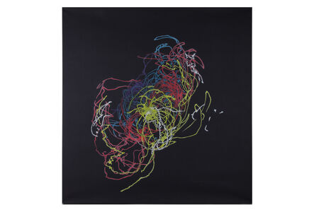 Claude Heath, 'Pith No.5 Abstract on Black Background'