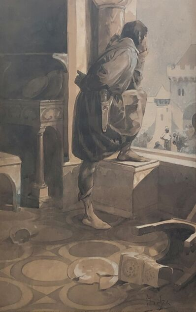 Alphonse Mucha, 'Medieval Thoughts, Prague', ca. 1890