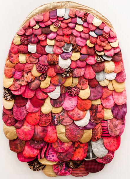 Leda Catunda, 'Línguas Rosa', 2018