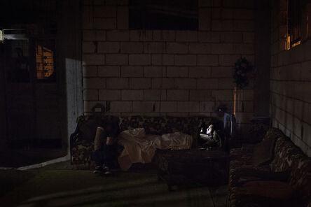 Laura Boushnak, 'Mohamed sleeps through the day and surfs the internet for a girlfriend at night. Rashidiyeh, Lebanon', 2015