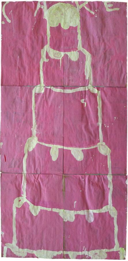 Gary Komarin, 'Stacked Cake (Creme on Pink)'