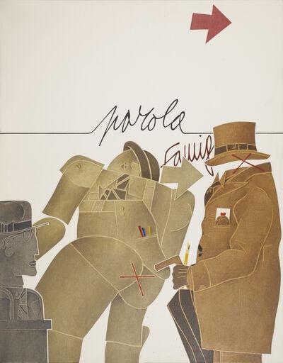 Emilio Tadini, 'L'Atelier (Famiglia)', 1977