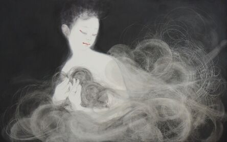"""Eri Iwasaki, 'The Scent of Poppy Seed Incense: """"Bind the hem of my robe, to keep it within, The grieving soul that has wandered through the skies.""""', 2019"""