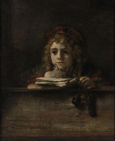 Rembrandt van Rijn, 'Titus at his Desk', 1655