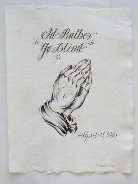 Alexis Ross, 'I'd rather go blind', 2015