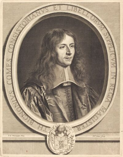 Nicolas Pitau I after Philippe de Champaigne, 'Thierry Bignon'