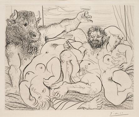 Pablo Picasso, 'Scene Bacchique au Minotaure (from La Suite Vollard)', 1933