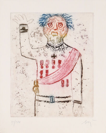 Enrico Baj, 'A Dormier Debout', 1963