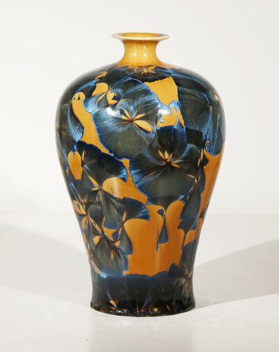 Hongwei Li, 'Mei ping vase, splash peacock blue glaze', 2015
