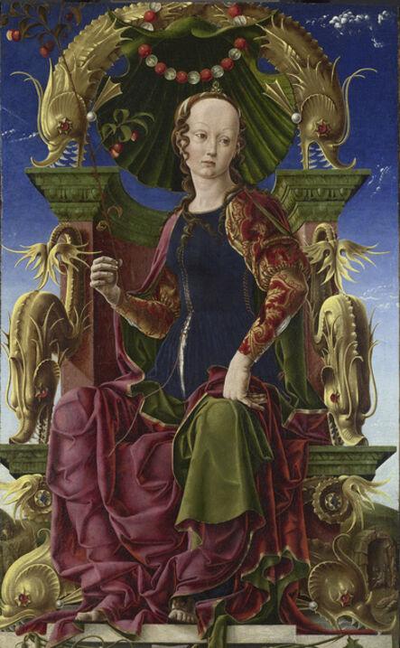 Cosmè Tura, 'A Muse (Calliope?)', probably 1455-1460