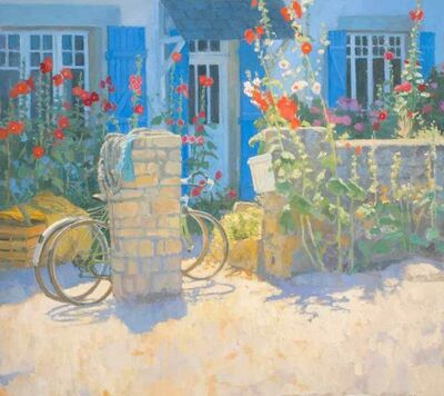 Nicholas Verrall, 'Hollyhocks on the Brittany Coast', 2020