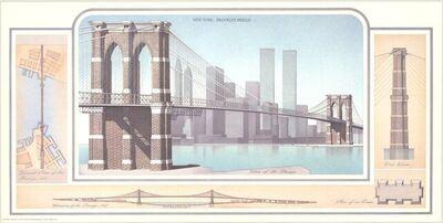 Libero Patrignani, 'New York - Brooklyn Bridge', 1993
