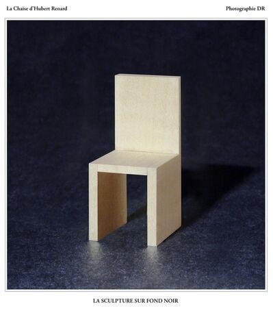 Hubert Renard, 'La Chaise d'Hubert Renard : la sculpture sur fond noir', 2020