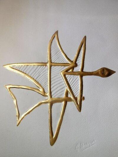 "Georges Braque, 'Rare ""Asteria"" Gold Embossed Etching', 20th Century"