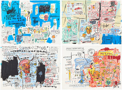 Jean-Michel Basquiat, 'Ascent, Olympic, Leeches and Liberty', 2017