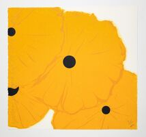 Donald Sultan, 'Yellow Poppies, September 12, 2013', 2013