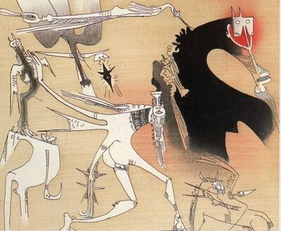 Wifredo Lam, 'Sans titre - XXe siecle plate #3', 1977
