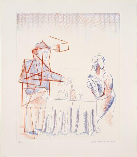 David Hockney, 'The Blue Guitar Portfolio of Twenty Etchings', 1976-1977
