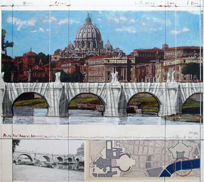 Christo, 'Ponte Sant'Angelo, Wrapped, Project for Rome', 2011