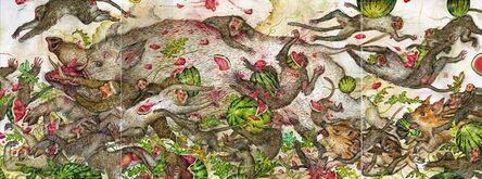 Mu Pan, 'White boar and watermelons', 2015