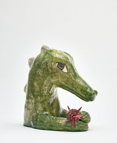 Clémentine de Chabaneix, 'Crocodile with thistle', 2020