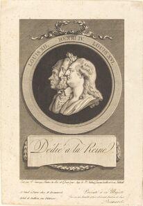 Augustin de Saint-Aubin after Piat Joseph Sauvage, 'Louis XVI, Henri IV, and Louis XII'