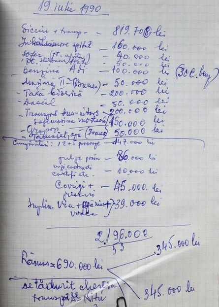 Daniel Djamo, 'Expenses Notebook page 203'