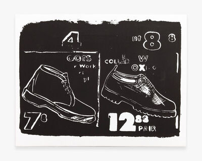 Andy Warhol, 'Work Boots (Negative)', 1985-1986