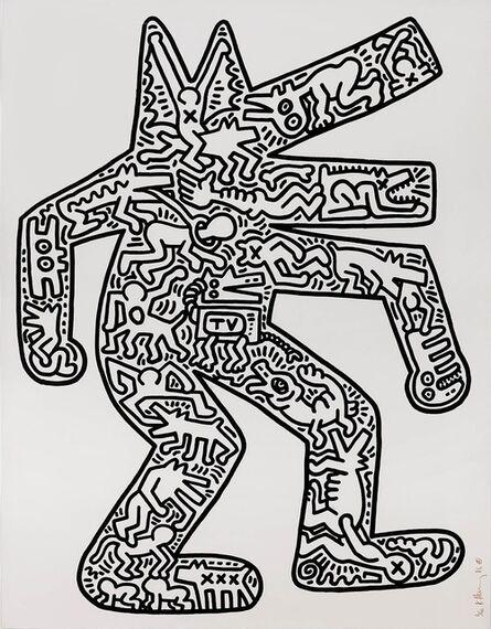 Keith Haring, 'Dog (1985) (signed)', 1985