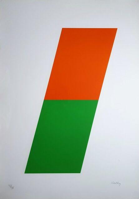 Ellsworth Kelly, 'Orange/Green', 1970