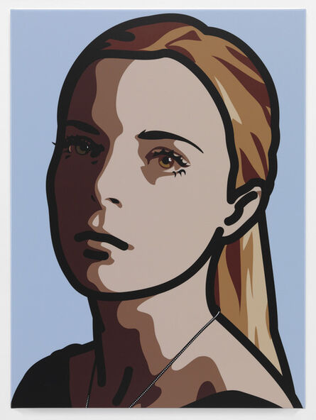 Julian Opie, 'Lily, eyes straight, head left, hair back', 2013