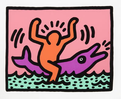 Keith Haring, 'Untitled VB', 1989