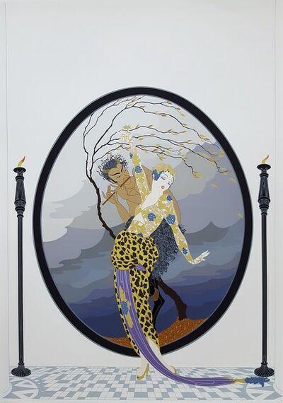 Erté (Romain de Tirtoff), 'Woman and Satyr', 1980