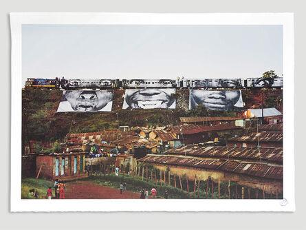JR, 'In Kibera Slum, Train Passage 1 *', 2010
