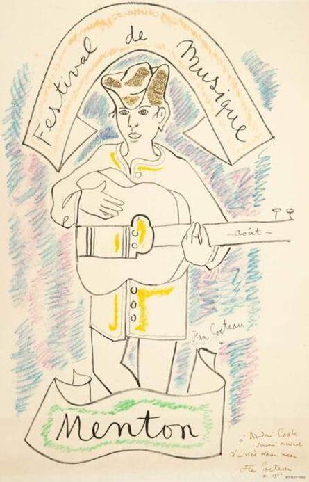Jean Cocteau, 'Menton - Festival de Musique', 1956