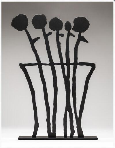 Donald Baechler, 'Black Flowers Sculpture', 2019