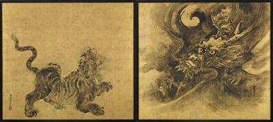 Tsuruzawa Tansaku, 'Dragon  and  Tiger    ', 18th century-Edo Period