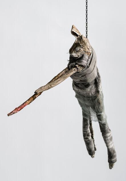 Elizabeth Jordan, 'Sculpture of hare suspended from chain: 'Children 10'', 2020