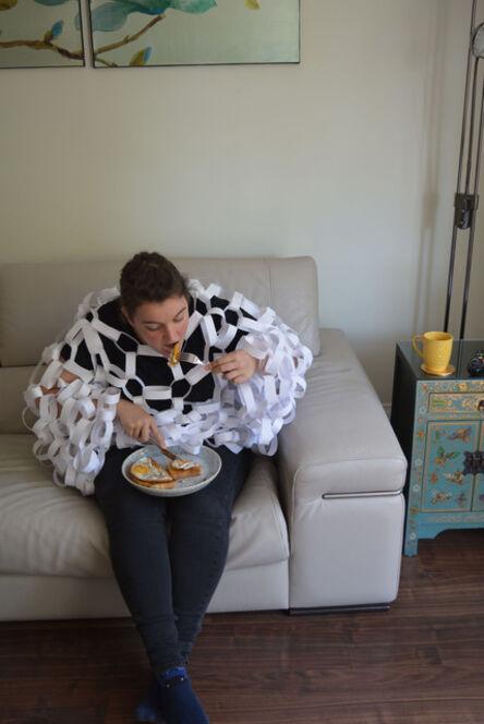 Alice Garbett, 'Eating tea in front of the telly', 2020