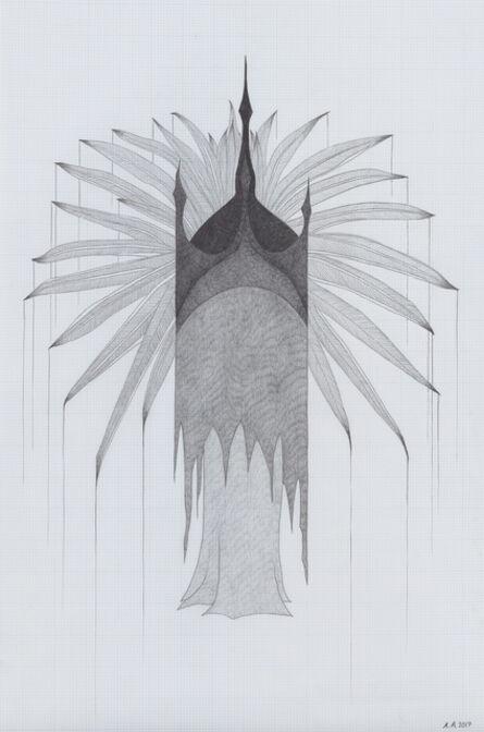 Afruz Amighi, 'Emperor's Headdress (drawing) ', 2017
