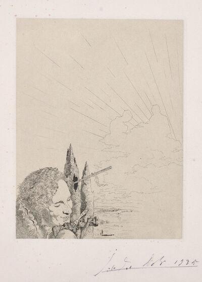 Salvador Dalí, 'Les Chants de Maldoror (Songs of Maldoror): plate 9', 1935
