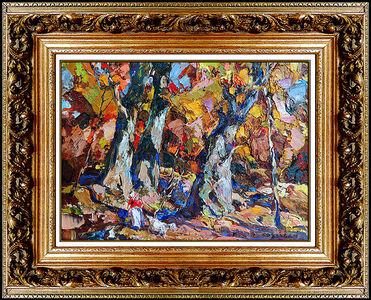 John E. Costigan, 'John Costigan Original Oil Painting on Canvas Board Signed Landscape Framed Art', 20th Century